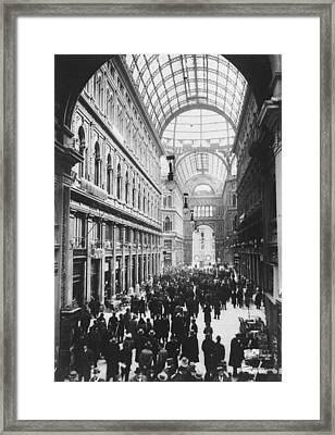 Galleria Umberto Framed Print by General Photographic Agency