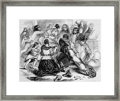 Galway Starvation Riots Framed Print by Illustrated London News