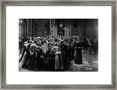 Gambling Rooms Framed Print by Hulton Archive