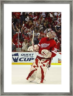 Game 2 - San Jose Sharks V Detroit Red Framed Print by Dave Sandford