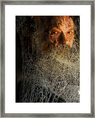 Framed Print featuring the digital art Gandalf - Cobwebby Self-portrait by Attila Meszlenyi