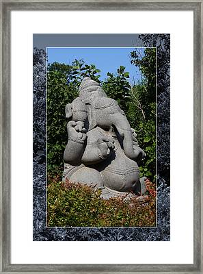 Framed Print featuring the photograph Ganesha In The Garden by Debi Dalio