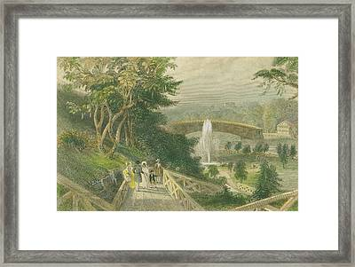 Garden At Fairmount Framed Print