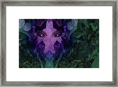 Garden Eyes Framed Print