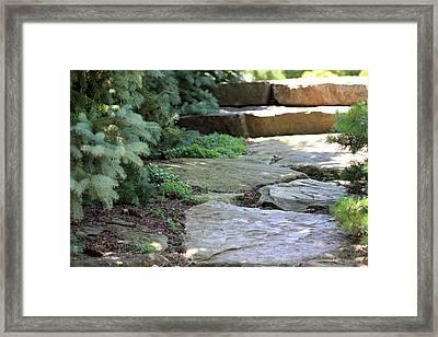 Garden Landscape - Stone Stairs Framed Print