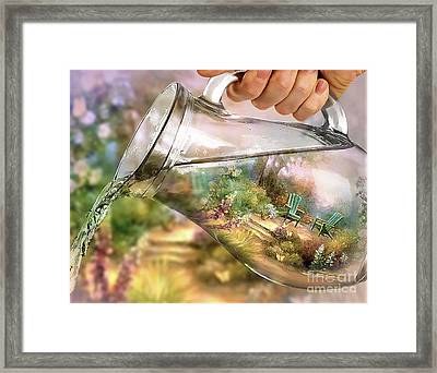 Garden Reflections Framed Print