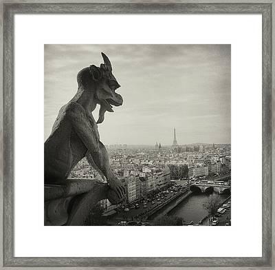 Gargoyle Of Notre Dame Framed Print