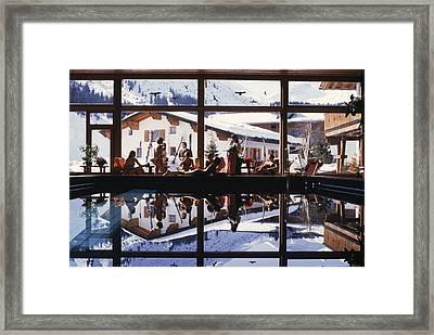 Gasthof Post Pool Framed Print