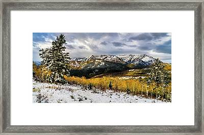 Framed Print featuring the photograph Gathering Storm by TL Mair