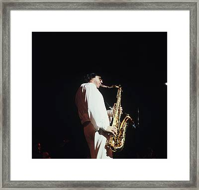 Gato Barbieri Performs At Newport Framed Print by David Redfern