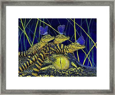 Gator Nursery  Framed Print