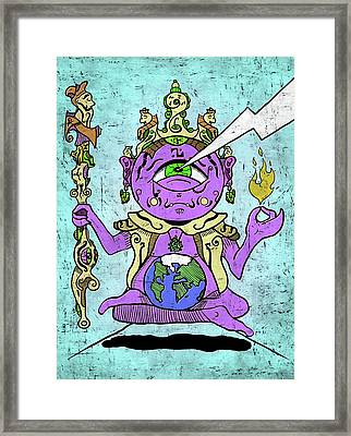 Framed Print featuring the digital art Gautama Buddha Colour Illustration by Sotuland Art
