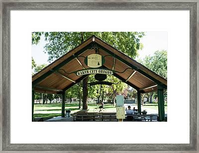 Geiser Pollman Park Shelter Framed Print