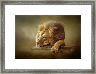 Framed Print featuring the digital art Gentle Soul by Nicole Wilde