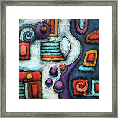 Geometric Abstract 5 Framed Print