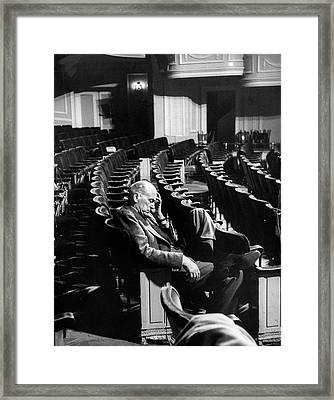 George Abbott Framed Print by Peter Stackpole