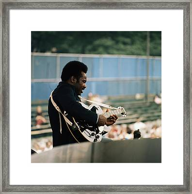 George Benson On Stage Framed Print by David Redfern