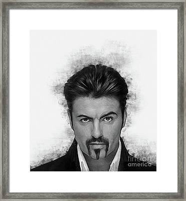 George Michael Framed Print