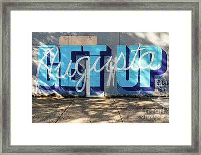 Get Up Augusta Ga Mural  Framed Print