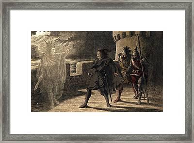 Ghost Appears To Hamlet Framed Print by Hulton Archive