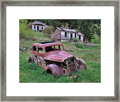 Ghost Town Framed Print by Leland D Howard