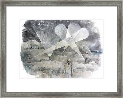Ghostbusting The New Zealand Storm-petrel Framed Print