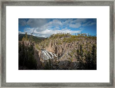 Framed Print featuring the photograph Gibbon Falls In Yellowstone by Mark Duehmig