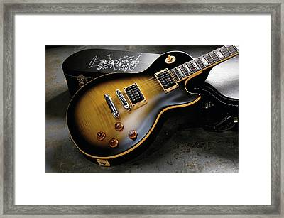 Gibson Usa Slash Les Paul Standard Framed Print by Guitarist Magazine