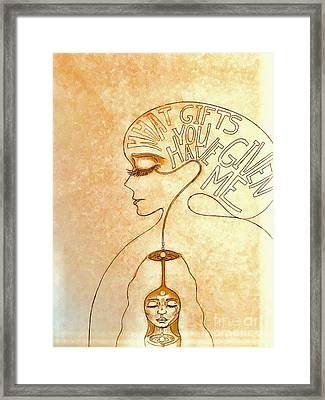 Gifts Of The Mind Framed Print