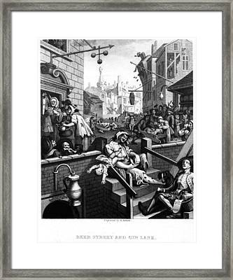Gin Lane Framed Print by Three Lions