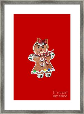 Framed Print featuring the photograph Gingerbread Cookie Girl by Rachel Hannah