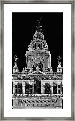 Giralda Tower In Monochrome. Seville Framed Print