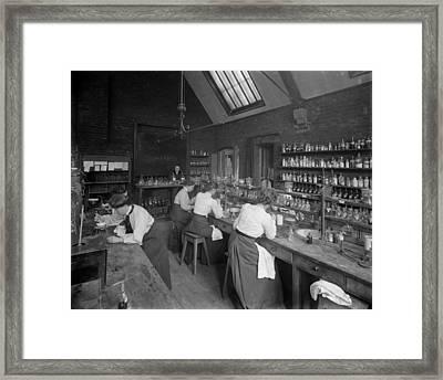 Girton Laboratory Framed Print by Reinhold Thiele