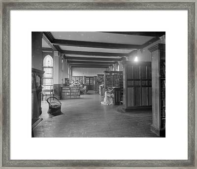 Girton Library Framed Print by Reinhold Thiele