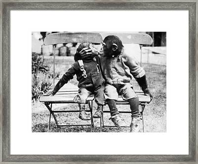 Give Me Your Lips Framed Print by General Photographic Agency