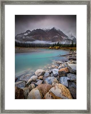 Framed Print featuring the photograph Glacial Waters / Banff, Canada  by Nicholas Parker