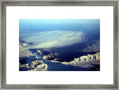 Glacier Pushes Out Framed Print