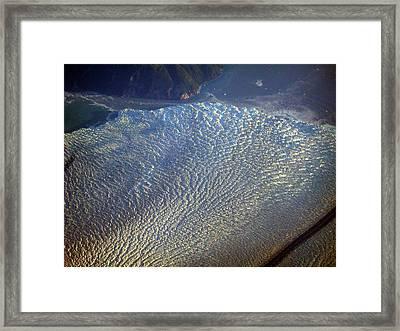 Glacier Texture Framed Print