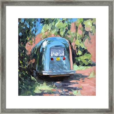 Glamping In Dappled Light Framed Print