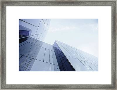 Glass And Steel Office Building Framed Print
