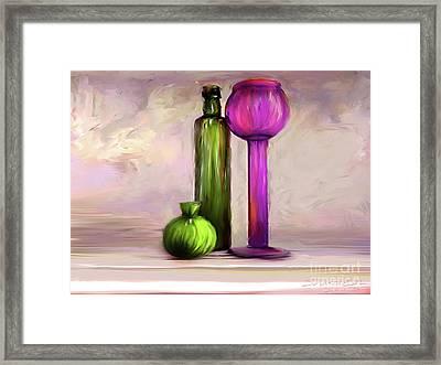 Glass On Glass Framed Print