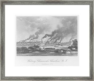 Glassworks In New Jersey Framed Print by Kean Collection