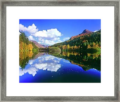 Glencoe Lochan, Scotland Framed Print by Kathy Collins