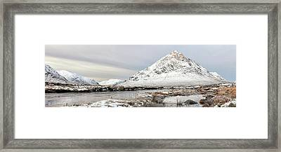 Framed Print featuring the photograph Glencoe Snowy Morning by Grant Glendinning