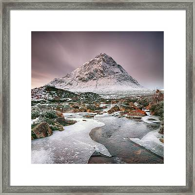 Framed Print featuring the photograph Glencoe Winter - Square by Grant Glendinning