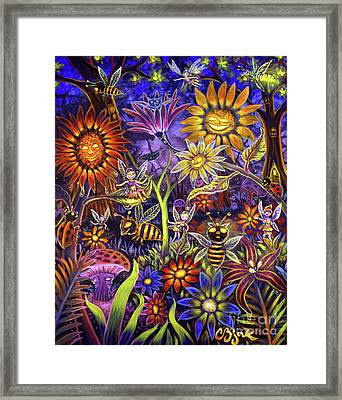 Glowing Fairy Forest Framed Print