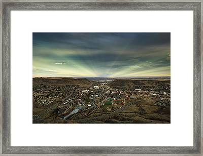 Go East Young Man Framed Print