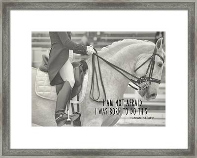 Go For Baroque Quote Framed Print by JAMART Photography