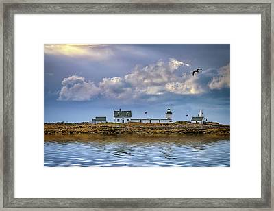 Framed Print featuring the photograph Goat Island Lighthouse by Rick Berk