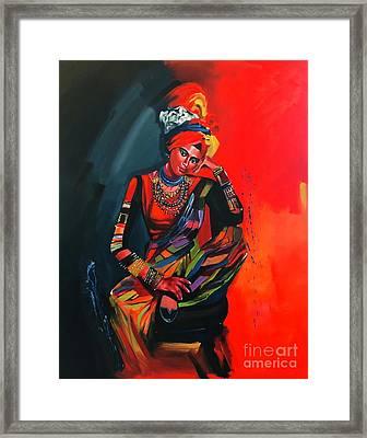Goddess Of Colors Framed Print